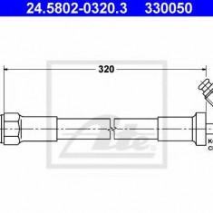 Furtun ambreiaj BMW 3 limuzina 316 - ATE 24.5802-0320.3 - Conducte Ambreiaj