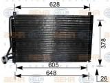 Condensator, climatizare OPEL VECTRA A hatchback 1.6 i - HELLA 8FC 351 036-181