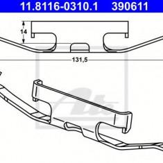 Arc, etrier frana VW TOUAREG 3.2 V6 - ATE 11.8116-0310.1 - Arc - Piston - Garnitura Etrier