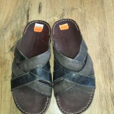 OFERTA! Sandale/Papuci barbat TIMBERLAND originale noi piele+textil Sz 42 ! - Papuci barbati Timberland, Culoare: Maro