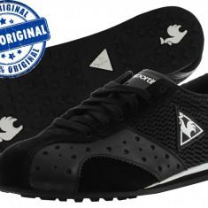 Adidasi dama Le Coq Sportif Romilly Lace - adidasi originali - piele naturala, Culoare: Negru, Marime: 38