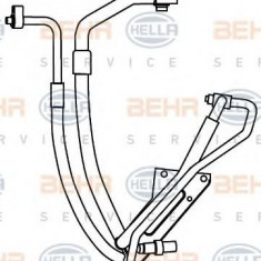Conducta inalta presiune, aer conditionat FORD TRANSIT bus 2.4 DI [RWD] - HELLA 9GS 351 337-591 - Furtunuri aer conditionat auto