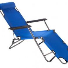 Sezlong/pat 3 pozitii camping/plaja/pescuit