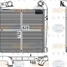 Intercooler, compresor SCANIA P, G, R, T - series R 340 - HELLA 8ML 376 730-571 - Intercooler turbo