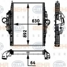 Intercooler, compresor MERCEDES-BENZ AXOR 1835 LS - HELLA 8ML 376 724-281 - Intercooler turbo