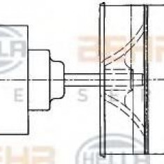 Ventilator, habitaclu MAN L 2000 8.103 LC, 8.103 LLC - HELLA 8EW 009 160-021 - Motor Ventilator Incalzire