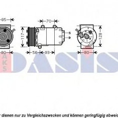 Compresor, climatizare FORD GALAXY 1.8 TDCi - AKS DASIS 851690N - Compresoare aer conditionat auto KLOKKERHOLM