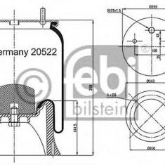 Burduf, suspensie pneumatica - FEBI BILSTEIN 20522
