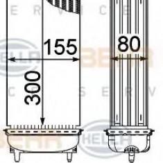 Intercooler, compresor PEUGEOT 207 1.6 HDi - HELLA 8ML 376 746-771 - Intercooler turbo