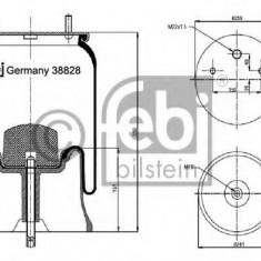 Burduf, suspensie pneumatica - FEBI BILSTEIN 38828