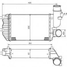 Intercooler, compresor PEUGEOT BOXER bus 1.9 TD - NRF 30066A - Intercooler turbo