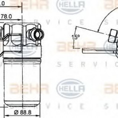 Uscator, aer conditionat AUDI A8 limuzina 4.2 quattro - HELLA 8FT 351 192-391