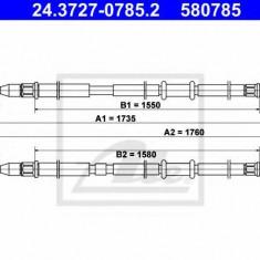 Cablu, frana de parcare OPEL ASTRA H combi 1.6 LPG - ATE 24.3727-0785.2