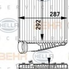 Intercooler, compresor PORSCHE CAYENNE 3.0 Diesel - HELLA 8ML 376 729-571 - Intercooler turbo