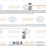 Racord, schimbator de caldura PORSCHE CAYENNE S 4.5 - HELLA 8MY 376 755-561