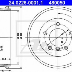 Tambur frana MERCEDES-BENZ G-CLASS 230 GE - ATE 24.0226-0001.1 - Saboti frana auto