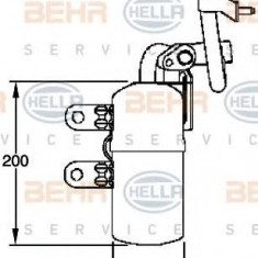 Uscator, aer conditionat VOLVO C70 II Cabriolet D3 - HELLA 8FT 351 335-101