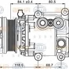 Compresor, climatizare FORD MONDEO Mk III limuzina 1.8 16V - HELLA 8FK 351 334-091 - Compresoare aer conditionat auto