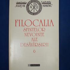 FILOCALIA SFINTELOR NEVOINTE [ VOL. 6 ] * TRAD. D. STANILOAE - HUMANITAS - 1997 - Carti ortodoxe