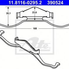 Arc, etrier frana SAAB 9-3 Cabriolet 1.9 TTiD - ATE 11.8116-0295.2 - Arc - Piston - Garnitura Etrier