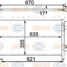 Condensator, climatizare SUBARU FORESTER 2.0 - HELLA 8FC 351 304-141 - Radiator aer conditionat