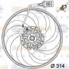 Ventilator, aer conditionat OPEL VITA C 1.0 - HELLA 8EW 351 034-421 - Radiator aer conditionat