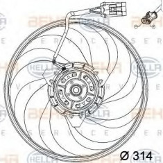 Ventilator, aer conditionat OPEL VITA C 1.0 - HELLA 8EW 351 034-421 - Radiator aer conditionat