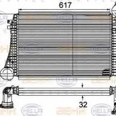 Intercooler, compresor VW EOS 2.0 TDI - HELLA 8ML 376 746-161 - Intercooler turbo