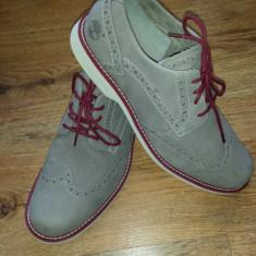 Pantofi barbat TIMBERLAND Earth Keepers originali noi comozi piele nubuck 41, 5, Culoare: Gri, Piele naturala