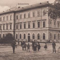 CERNAUTI, UNIVERSITATEA, CIRCULATA 1925, EDITURA G. HUTTER, CERNAUTI - Carte Postala Bucovina dupa 1918, Printata