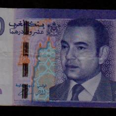 20 dirhams 2012 Maroc bancnote straine numismatica bani vechi colectie - bancnota africa