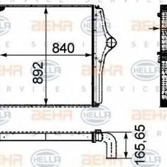 Intercooler, compresor MAN LION S COACH FRH 352, RH 353 - HELLA 8ML 376 724-431 - Intercooler turbo