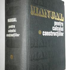 CARACOSTEA - MANUAL PENTRU CALCULUL CONSTRUCTIILOR