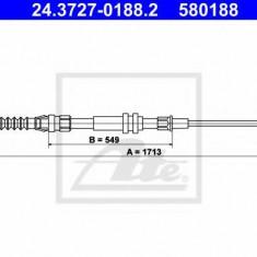 Cablu, frana de parcare VW CADDY III caroserie 1.9 TDI 4motion - ATE 24.3727-0188.2