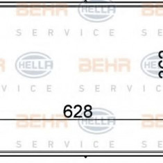 Condensator, climatizare FORD MONDEO Mk III limuzina 1.8 16V - HELLA 8FC 351 300-321 - Radiator aer conditionat