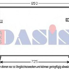 Condensator, climatizare KIA SEDONA Mk II 2.2 CRDi - AKS DASIS 512051N - Armatura bara KLOKKERHOLM