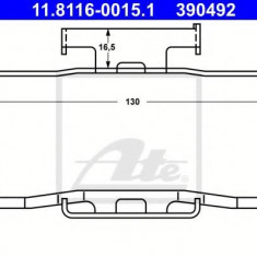 Arc, etrier frana BMW 3 limuzina 316 - ATE 11.8116-0015.1 - Arc - Piston - Garnitura Etrier