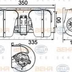 Ventilator, habitaclu DAF 95 XF FA 95 XF 380 - HELLA 8EW 351 024-491 - Motor Ventilator Incalzire