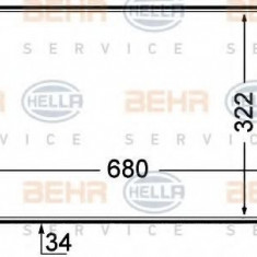 Intercooler, compresor PEUGEOT 806 2.0 Turbo - HELLA 8ML 376 727-641 - Intercooler turbo