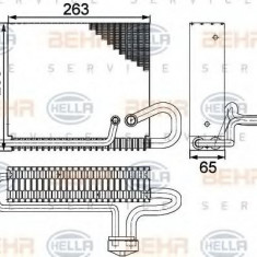 Evaporator, aer conditionat VW CRAFTER 30-35 bus 2.5 TDI - HELLA 8FV 351 330-271