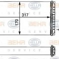 Schimbator caldura, incalzire habitaclu MERCEDES-BENZ T2/LN1 caroserie inchisa/combi 507 D - HELLA 8FH 351 312-431 - Sistem Incalzire Auto