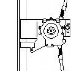 Mecanism actionare geam VW GOLF Mk III 1.9 D - TOPRAN 108 672 - Macara geam