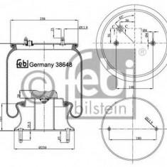 Burduf, suspensie pneumatica - FEBI BILSTEIN 38648