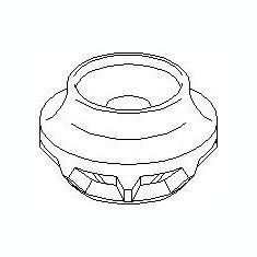 Inel, rulment sarcina amortizor VW GOLF Mk II 1.3 - TOPRAN 102 828 - Rulment amortizor