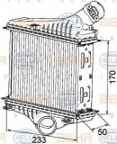 Intercooler, compresor SMART FORTWO cupe 1.0 Turbo - BEHR HELLA SERVICE 8ML 376 746-081