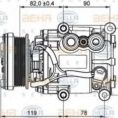 Compresor, climatizare FORD FOCUS 1.4 16V - HELLA 8FK 351 113-311 - Compresoare aer conditionat auto