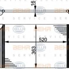 Condensator, climatizare VW SHARAN 1.9 TDI - HELLA 8FC 351 301-521 - Radiator aer conditionat