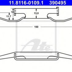 Arc, etrier frana BMW 3 limuzina 316 i - ATE 11.8116-0109.1 - Arc - Piston - Garnitura Etrier