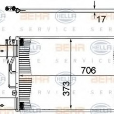 Condensator, climatizare SCANIA P, G, R, T - series R 340 - HELLA 8FC 351 307-361 - Radiator aer conditionat