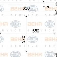 Condensator, climatizare HONDA CIVIC VII Hatchback 1.4 iS - HELLA 8FC 351 330-401 - Radiator aer conditionat